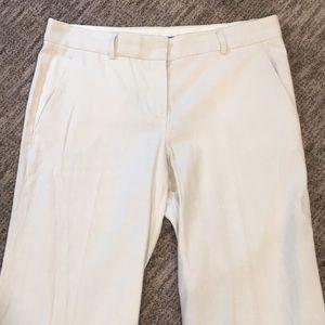 Theory Cream Linen Trouser Pants Sz 10